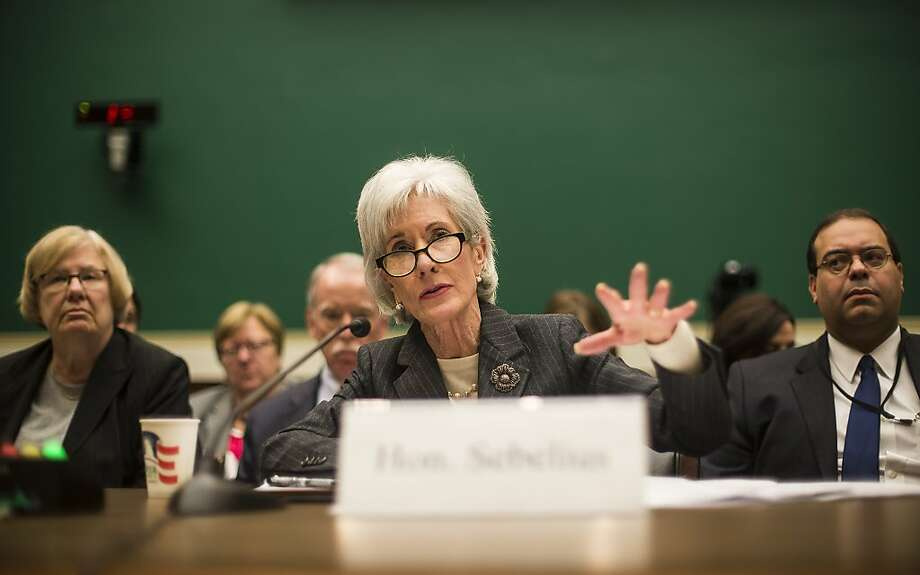 Secretary of Health and Human Services Kathleen Sebelius testifies at a Congressional panel last week. The White House has outlined a new exemption under the Affordable Care Act. Photo: Gabriella Demczuk, New York Times