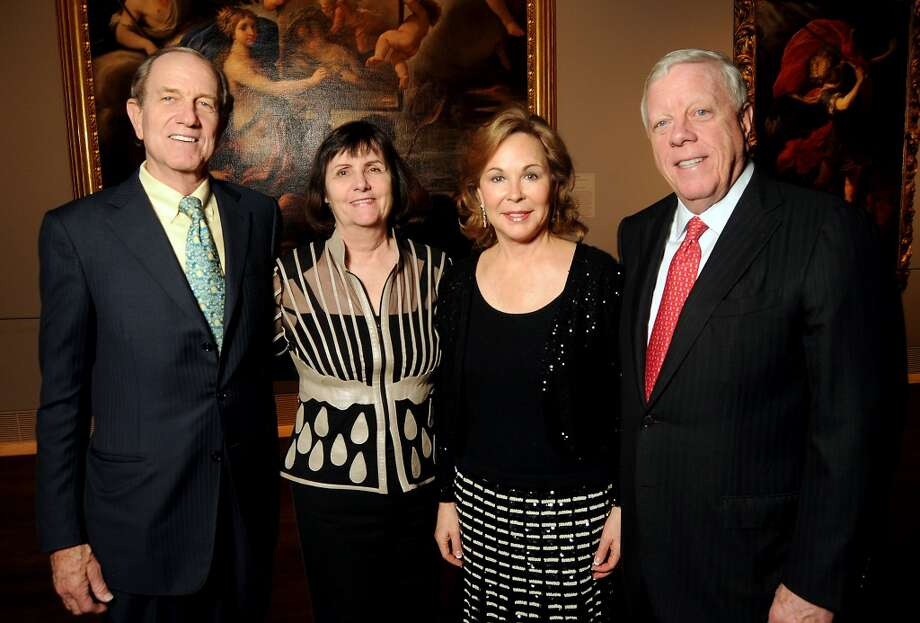 From left: Brad and Leslie Bucher with Nancy and Rich Kinder Photo: Dave Rossman, For The Houston Chronicle