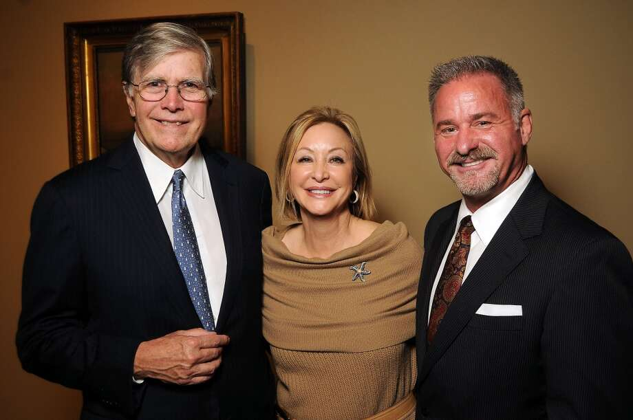 From left: Joe and Tina Pyne with Terry Wayne Jones Photo: Dave Rossman, For The Houston Chronicle