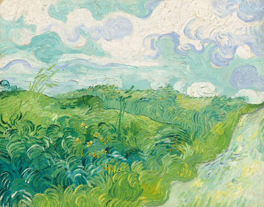 """""""Green Wheat Fields, Auvers"""" by Vincent van Gogh Photo: HOEP / National Gallery of Art"""