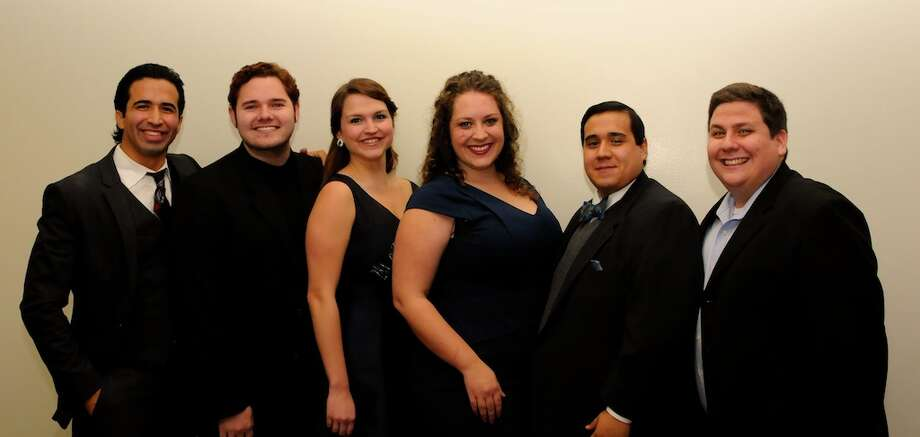 The Houston district contest in the Metropolitan National Council Audition on Dec. 7 yielded prize money for, from left, Rafael Moras, Bille Bruley, Abigail Rose Whittle, Natalie Cummings, Cesar Jose Torruella and Brian Ross Yeakley. Photo: Courtesy Photo