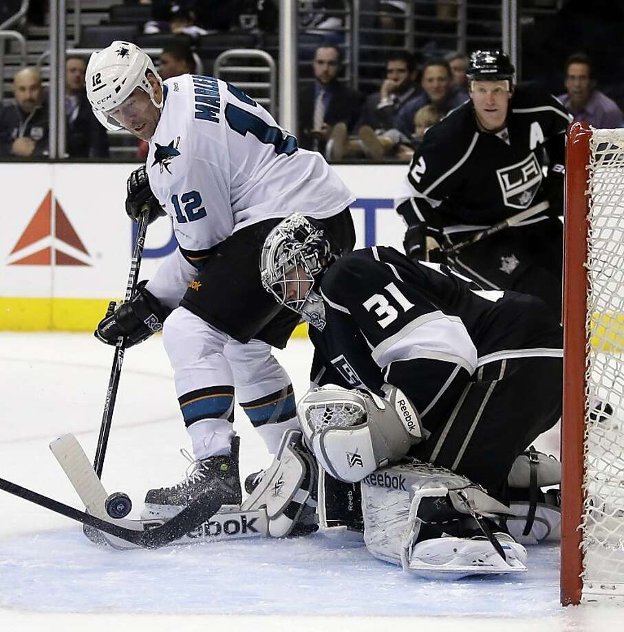 Kings goalie Martin Jones has opened his NHL career with seven wins in seven games. Photo: Chris Carlson, Associated Press