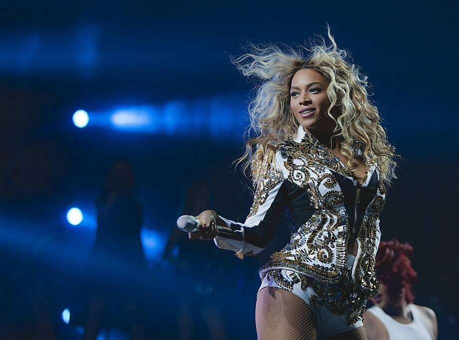 "IMAGE DISTRIBUTED FOR PARKWOOD ENTERTAINMENT - Beyonce performs onstage at her  ""Mrs. Carter Show World Tour 2013,"" on Wednesday, December 19, 2013 at the Barclays Center in Brooklyn, New York. (Photo by Rob Hoffman/Invision for Parkwood Entertainment/AP Images) Photo: Rob Hoffman, Associated Press"