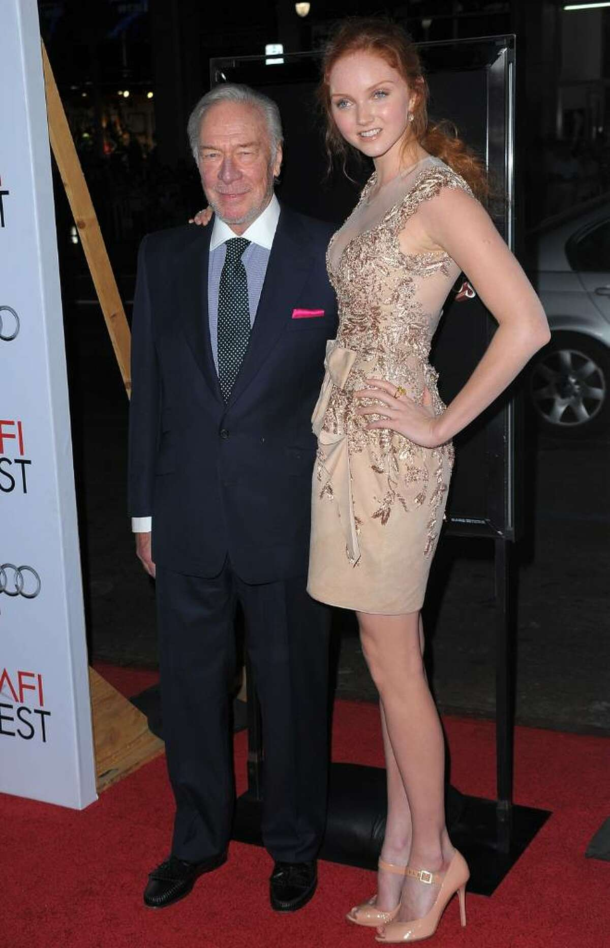 LOS ANGELES, CA - NOVEMBER 02: Christopher Plummer and Lily Cole arrive at AFI FEST 2009 screening of