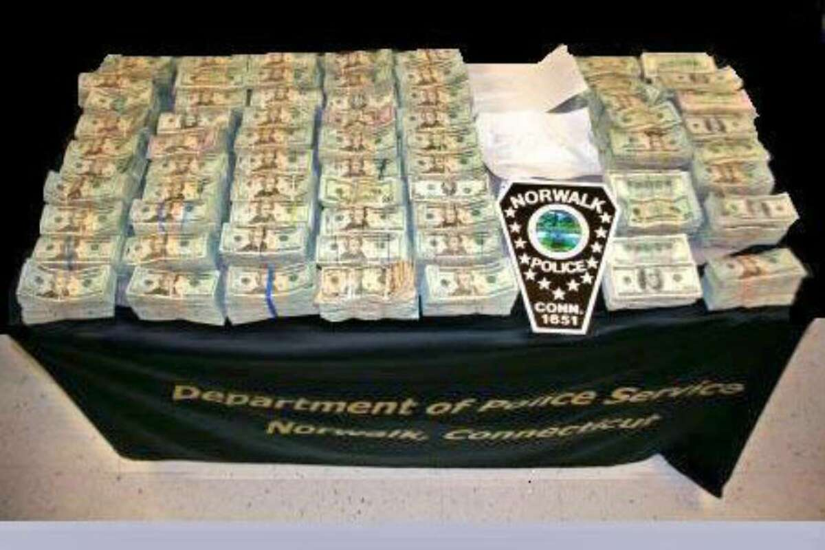 Norwalk police confiscated $832,000 in a drug bust Monday.