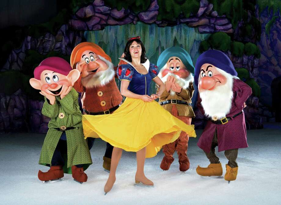 "Lauren Anderson, as Snow White, comes to Bridgeport's arena with The Seven Dwarfs, in the Disney on Ice production of ""Princesses & Heroes!"" Jan. 2-5. Photo: Contributed Photo / Connecticut Post Contributed"