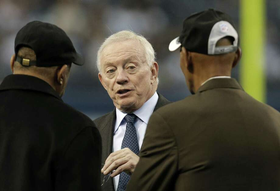 Cowboys owner Jerry Jones tried to downplay his comments earlier this week that seemed to indicate he was OK with mediocrity as long as AT&T Stadium was full each Sunday. Photo: Brandon Wade / Associated Press / FR168019 AP