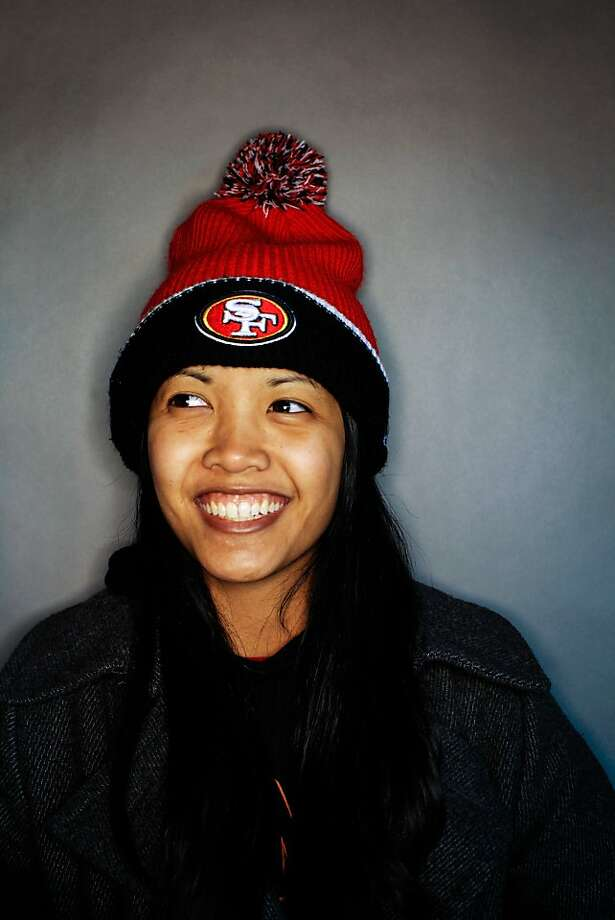 49ers fan Mercedes Feliciano, 22, of Stockton. Photo: Mike Kepka, The Chronicle