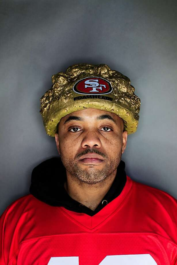 49ers fan Jermon Williams, 39, St. Louis, Missouri. Photo: Mike Kepka, The Chronicle