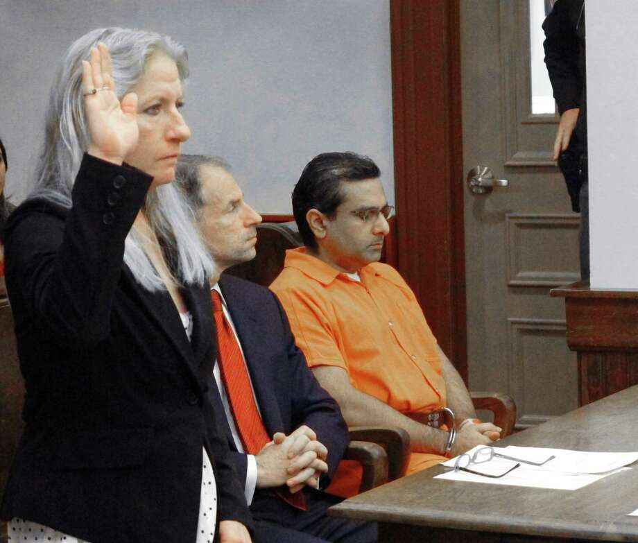 Lori Ballman, mother of Deanna Ballman, is sworn in before giving a victim-impact statement at Ali Salim's sentencing. Photo: Andrew Welsh-Huggins / Associated Press / AP