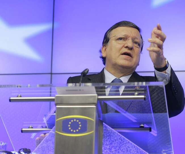 EU Commission President Jose Manuel Barroso used a weather reference to brush off objections about E