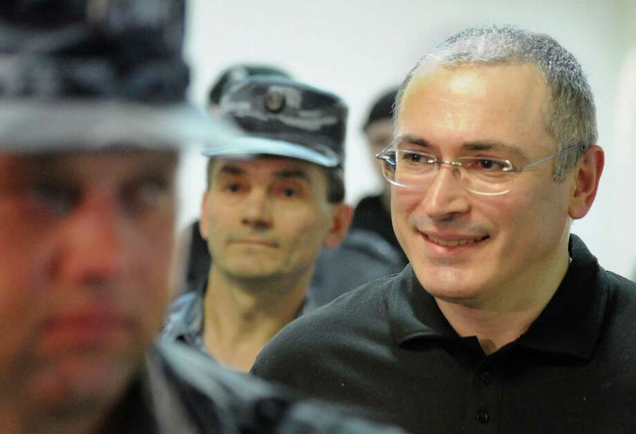 "Mikhail Khodorkovsky said he had requested a pardon over a month ago and that he was ""happy for a favorable decision."" It came as a surprise to his family and his lawyers, though. Photo: Alexander Nemenov / Getty Images / AFP ImageForum"