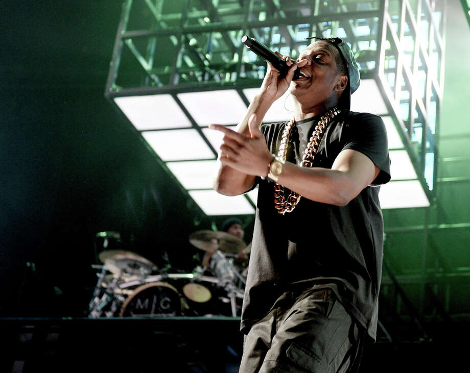 "Rap superstar displayed brilliance, whether with the new art-rap of ""Holy Grail"" or the rude hit ""99 Problems,"" and though his wasn't the biggest hip-hop concert of the year, his 11,000 fans were the loudest and most enthusiastic. Photo: Kevin Winter, Getty Images / 2013 Getty Images"