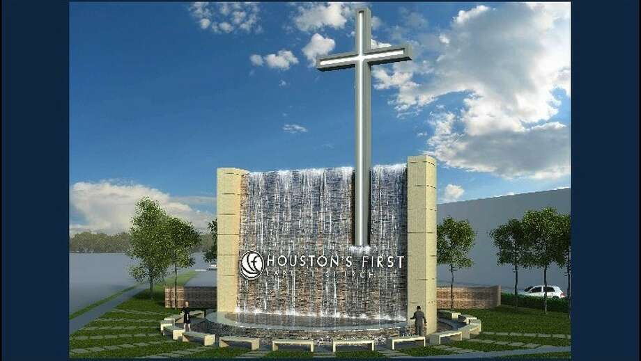 Rendering of the new sign at Houston s First Baptist Church (Courtesy of Houston s First Baptist Church) Photo: Courtesy Of Houston S First Bapt