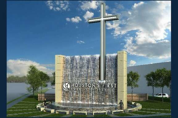 Rendering of the new sign at Houston s First Baptist Church (Courtesy of Houston s First Baptist Church)