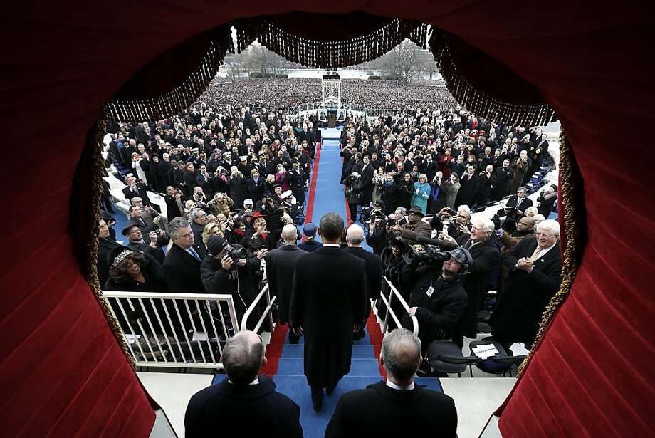 President Barack Obama arrives at the ceremonial swearing-in at the U.S. Capitol during the 57th Presidential Inauguration in Washington, Monday, Jan. 21, 2013. Photo: Evan Vucci, Associated Press
