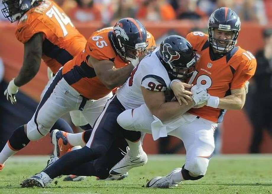 Watt made for rough day for Manning in that win in Denver last season.