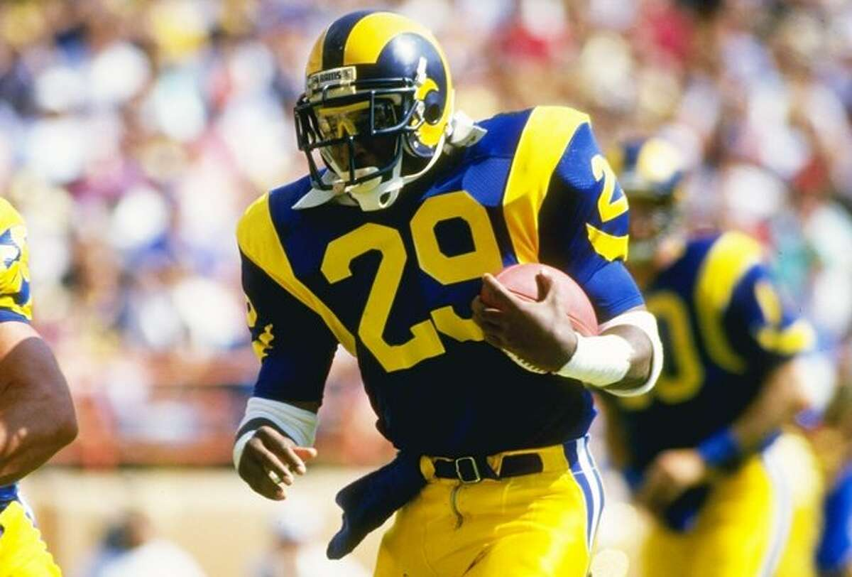 Eric Dickerson, Sealy (1978) Dickerson led Sealy to a 15-0 season and ran for 296 yards and four touchdowns in Sealy's 42-20 win over Wylie in the state title game. At SMU, Dickerson broke Earl Campbell's Southwest Conference rushing record. He played 11 years in the NFL and finished his career as the NFL's second all-time leading rusher, and ranks eighth now.