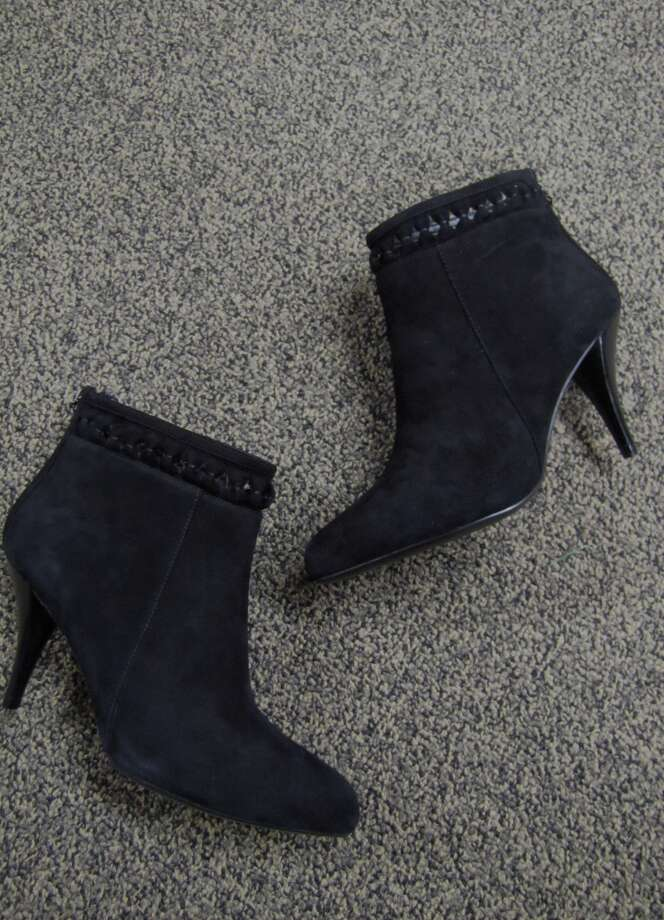 Suede cutout booties, Caressa, $57, S & M Family Outlet, Beaumont Photo: Cat5