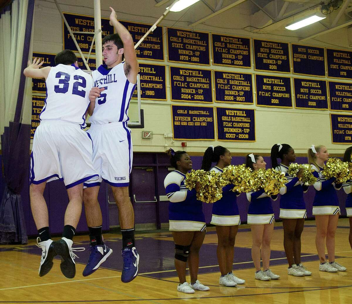 Friday's basketball game between Westhill and Ridgefield in Stamford, Conn., on December 20, 2013.
