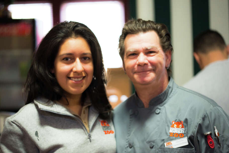 Amanda Bolanos Membership Manager with the Beardsley Zoo chef in charge of making all of the delicious food. Photo: Andrew Merrill