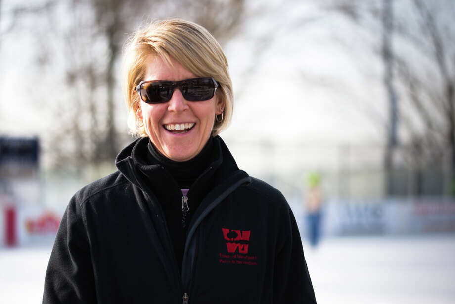 Cyndi Palaia of the Parks and Recreation Department of Westport. Palaia is the Program Manager t in charge of the ice skating lessons made available to residences by the Parks and Rec. Department. Photo: Andrew Merrill