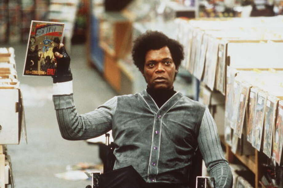 "381803 06: Samuel L. Jackson Stars As Elijah Price, An Eccentric Who Offers A Supernatural Explanation As To Why David Dunn (Bruce Willis), Was The Lone, Survivor Of An Unsurvivable Train Wreck, In Touchstone Pictures' Riveting, Suspense-Filled Action Thriller, ""Unbreakable."" Photo: Getty Images / Hulton Archive"