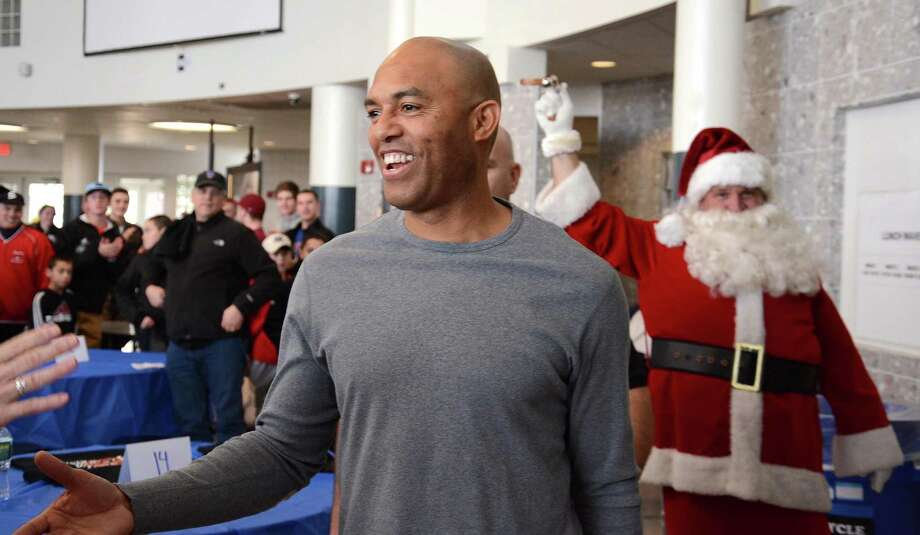 New York Yankees pitching great Mariano Rivera arrives at a speaking engagement at Ridgefield High School on Saturday Dec. 21,2013. Photo: Lisa Weir / The News-Times Freelance