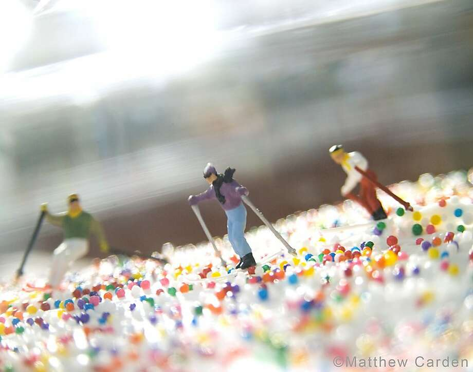 "Matthew Carden's photography - like ""Sprinkles,"" - incorporates old toys in food-centric settings. Photo: Matthew Carden"