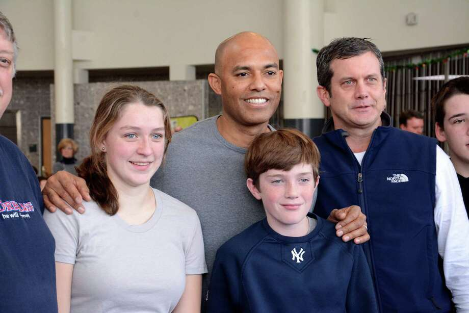 New York Yankees pitching great Mariano Rivera spoke at a fundraiser at Ridgefield High School on Saturday Dec. 21,2013. Photo: Lisa Weir / The News-Times Freelance