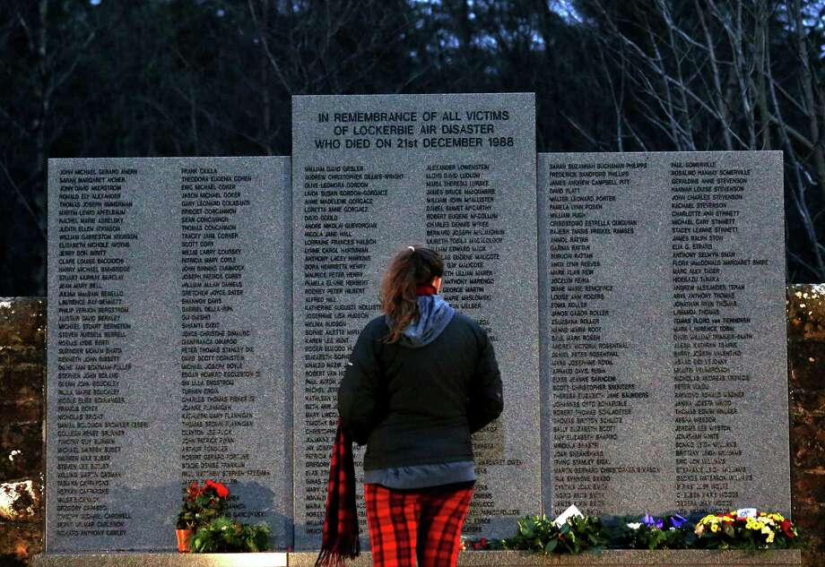 Pan Am Flight 103 was blown apart above the Scottish border town of Lockerbie on Dec. 21, 1988. All 269 passengers and crew on the flight and 11 people on the ground were killed in the bombing. Photo: Scott Heppell, STR / AP