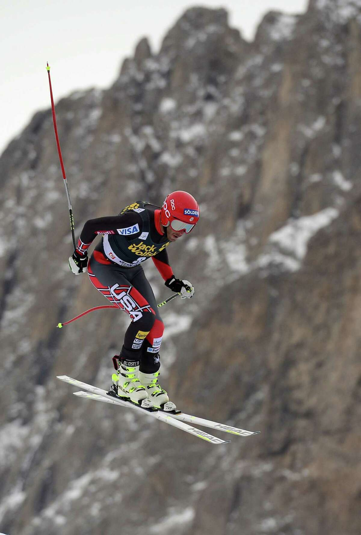 Bode Miller of the US competes during the second training session of the FIS Alpine World Cup Men's Downhill on December 19, 2013 in Val Gardena. AFP PHOTO / OLIVIER MORINOLIVIER MORIN/AFP/Getty Images ORG XMIT: -