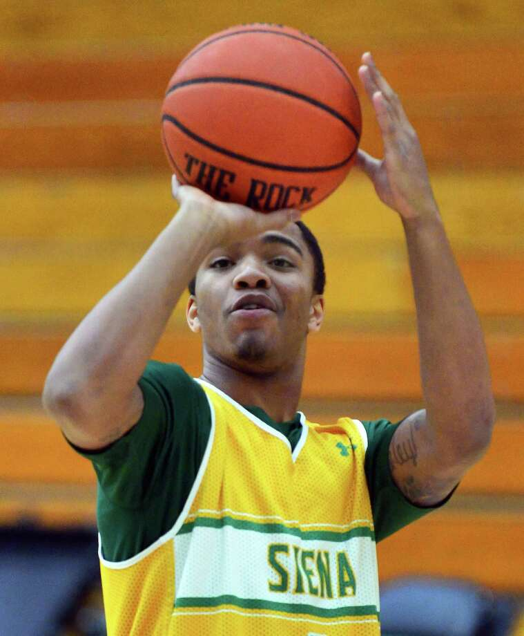 Siena's Marquis Wright during practice Saturday Dec. 21, 2013, in Colonie, NY.  (John Carl D'Annibale / Times Union) Photo: John Carl D'Annibale / 00025113A