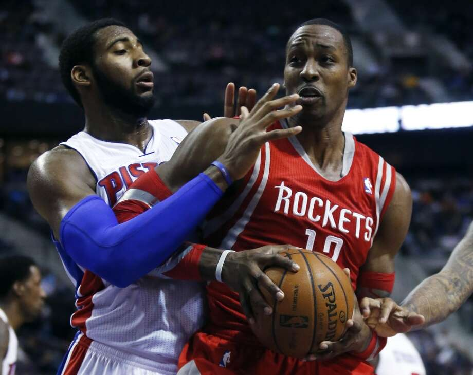 Dec. 21: Rockets 114, Pistons 97  Pistons center Andre Drummond, left, defends against Rockets center Dwight Howard. Photo: Duane Burleson, Associated Press