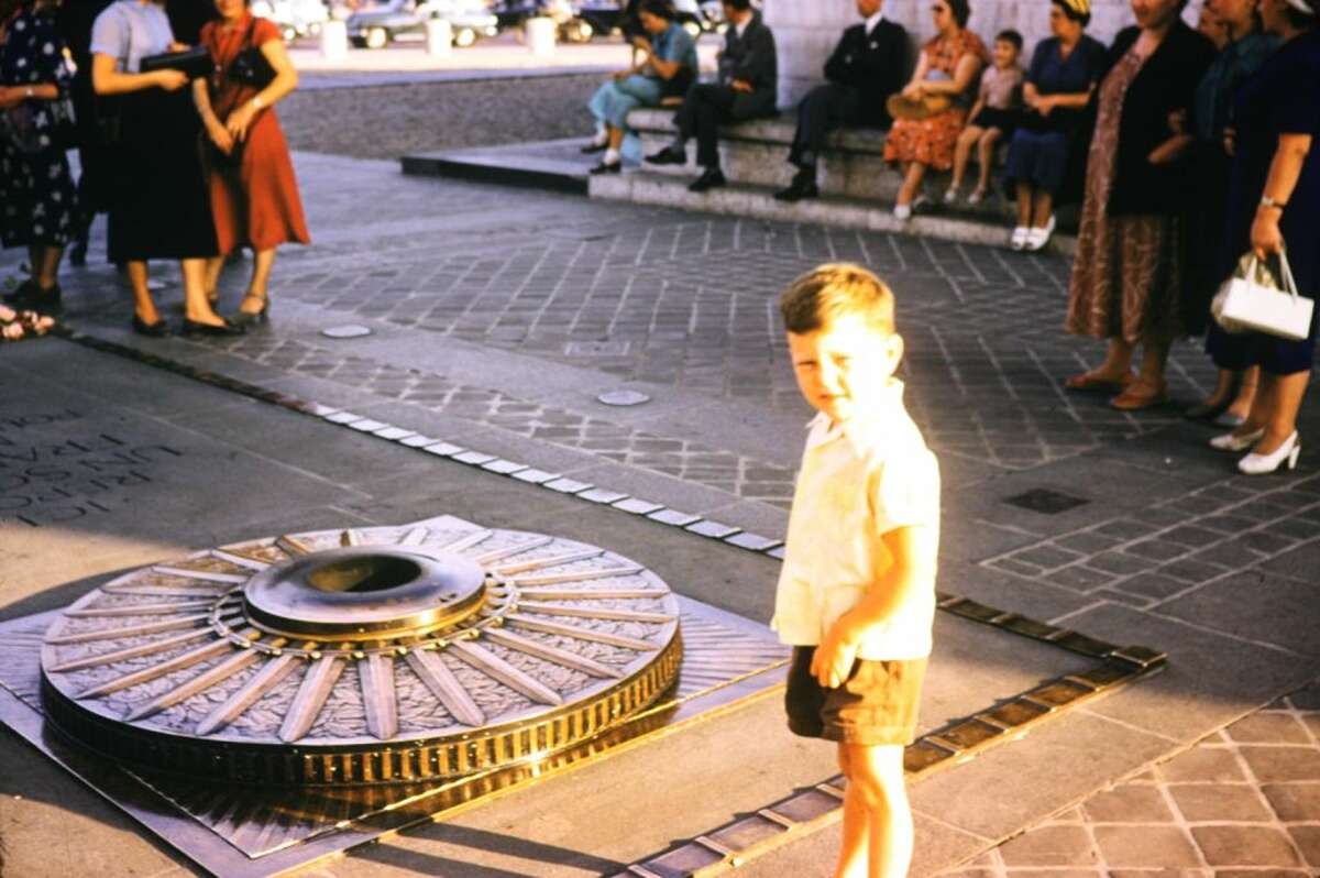 Then: Schertz resident Quentin Killlian at age 6 at the Arc de Triomphe in Paris in 1952.