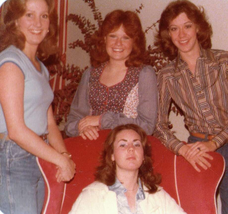 Then: Left to right - Teresa Crosley Gannaway, Katherine McGee Savage, Catherine Crenshaw Sheffield; Seated Lisa Latimer Nuckolls (1978, dormitory at Texas Tech) Photo: Courtesy Photo / Katherine Savage