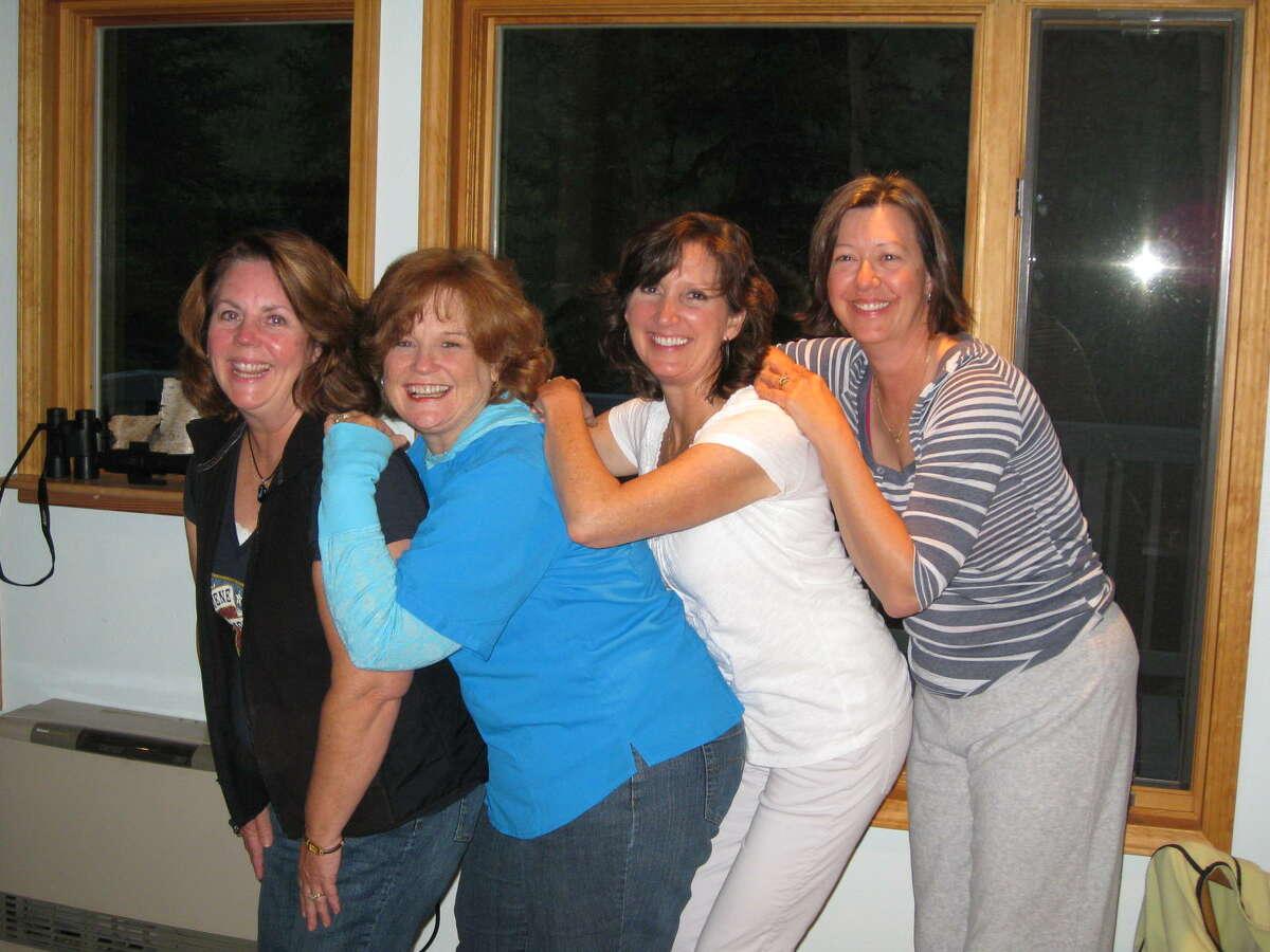 Now: left to right - Lisa Latimer Nuckolls, Katherine McGee Savage, Teresa Crosley Gannaway, Catherine Crenshaw Sheffield (Alaska 2011)
