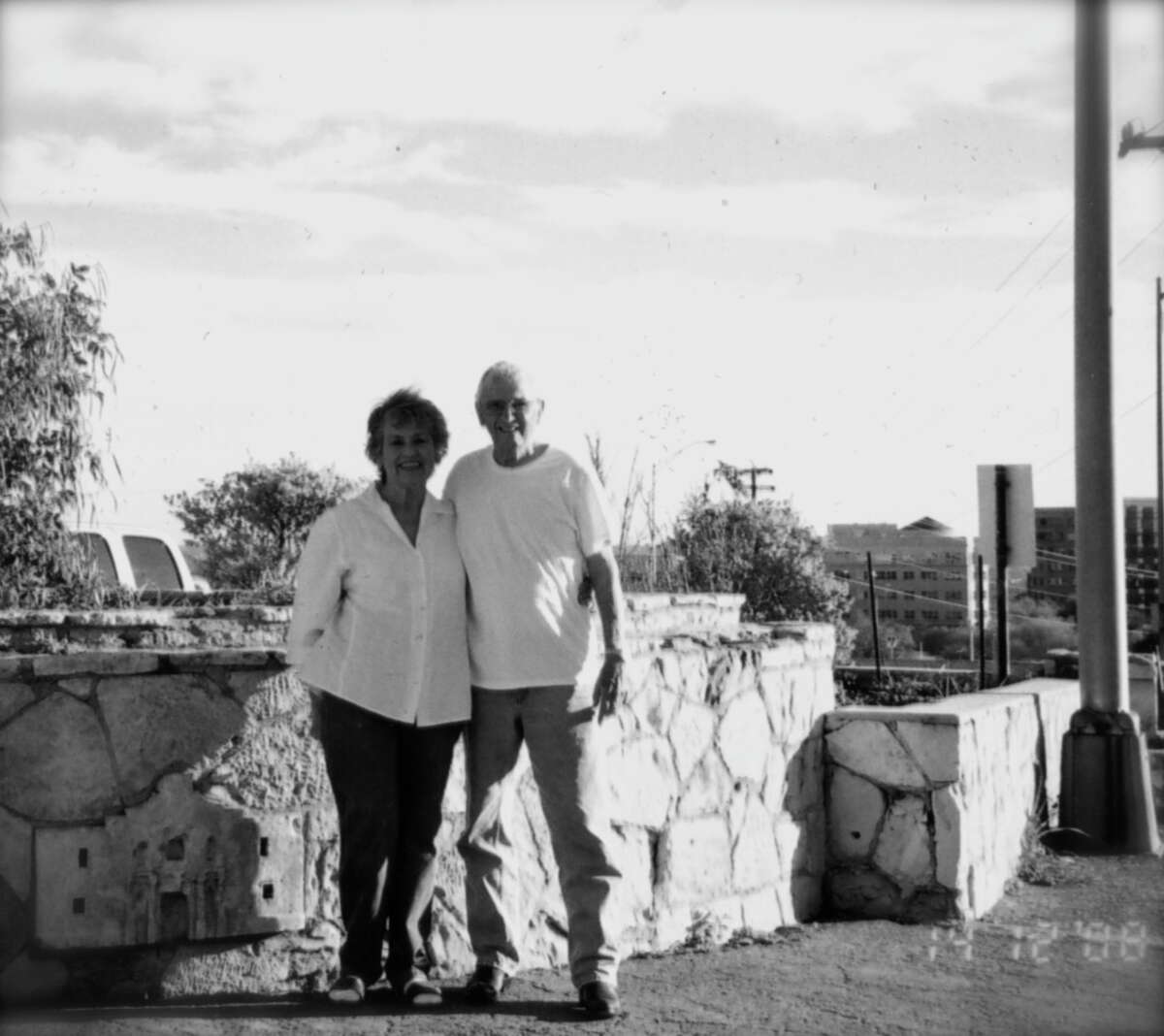 Now: Melvin E. Perez and Mary A. Perez in San Antonio in 2008.