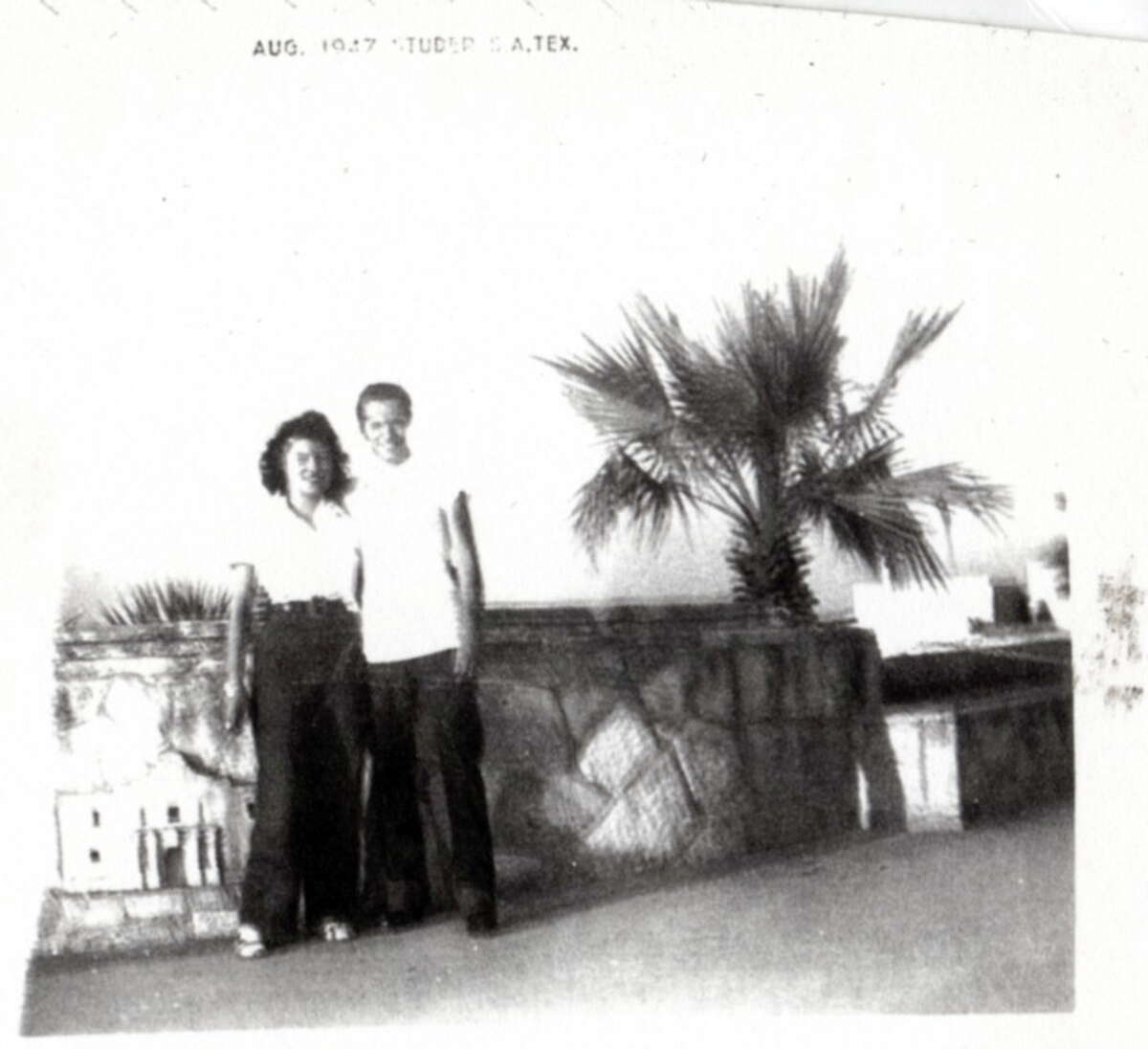 Then: Melvin E. Perez and Mary A. Perez in San Antonio in 1947.