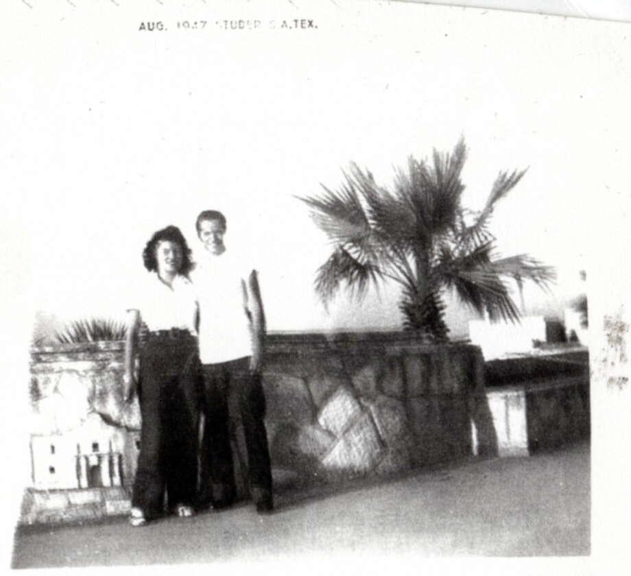Then: Melvin E. Perez  and Mary A. Perez in San Antonio in 1947. Photo: Courtesy Photo / Melvin And Mary Perez