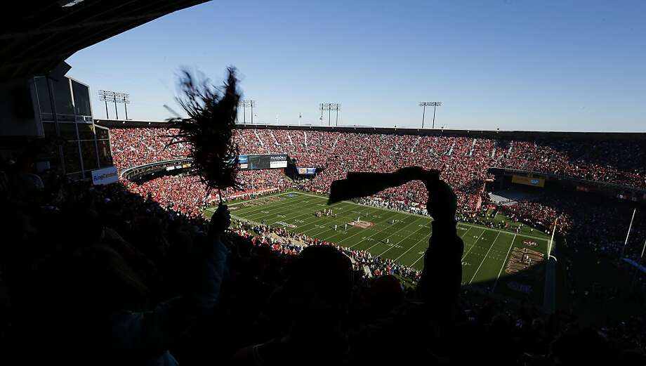 Candlestick Park, the 49ers' home since 1971, will play host to its final regular-season game when the 49ers face the Falcons. Photo: Eric Risberg, Associated Press