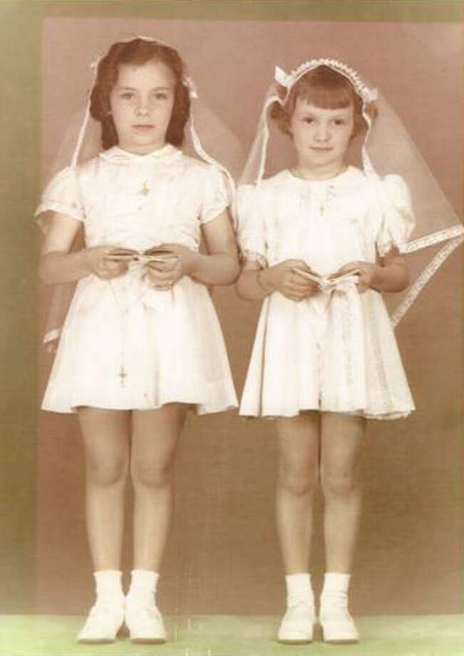 Then: Jean Ann Giardina and Frances Gagliano made their first communion in New Orleans in 1941.  Due to their parents friendship Jean Ann and Frances formed a bond that was almost inseparable.  When Jean was 5 years old she started kindergarten but Frances was six months shy of being old enough to start.  Frances cried so much to be with Jean that she became ill.  The school decided to allow Frances to attend kindergarten with Jean. Photo: Courtesy Photo / Frances Rouchon