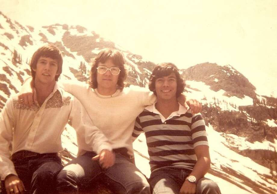 Then:  Don Jones, Barry Taylor and Jacob Gonzales at Estes Park CO in 1976. They were on a trip while attending Churchill Hich School. Photo: Courtesy Photo / Lydia I. Gonzales