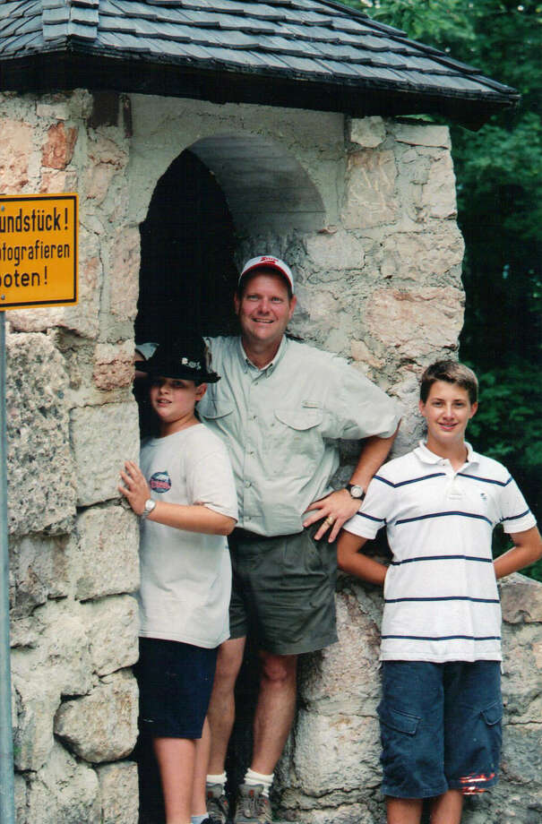 Then:  The Summer of 2006, the Weissler family took a family vacation to Germany and spent time in southern Germany, Bavaria, exploring World War II historical sites and museums. John, Jakob, then 14 years old and Luke, then 11 years old loved the bunkers at the old Turken Inn in Berchtesgaden.  This shot was at the remains of the original guard gate. Photo: Courtesy Photo / Lisa Weissler