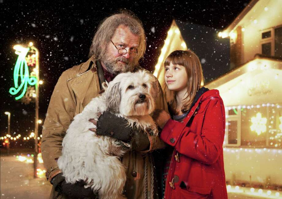 A troubled little girl named Chloe Crumb (Nell Tiger-Free) and a homeless man (Hugh Bonneville) give each other hope at Christmas in the U.S. premiere of 'Mr. Stink' on PBS. Photo: Gary Moyes, Courtesy Photo / ©BBC 2012