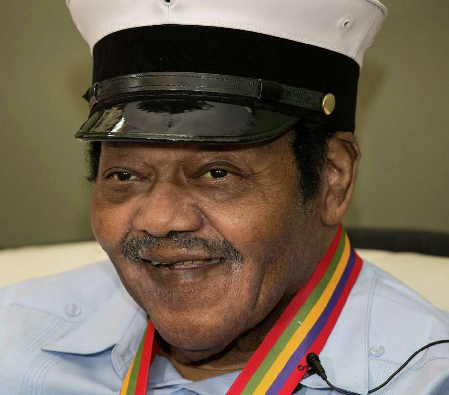 "Legendary musician Fats Domino is named  ""Honorary Grand Marshall"" of the Krewe of Orpheus, the star-studded Carnival club that traditionally parades the night before Mardi Gras. Friday December 20, 2013. Photo: Doug Parker, AP / FR 170928AP"