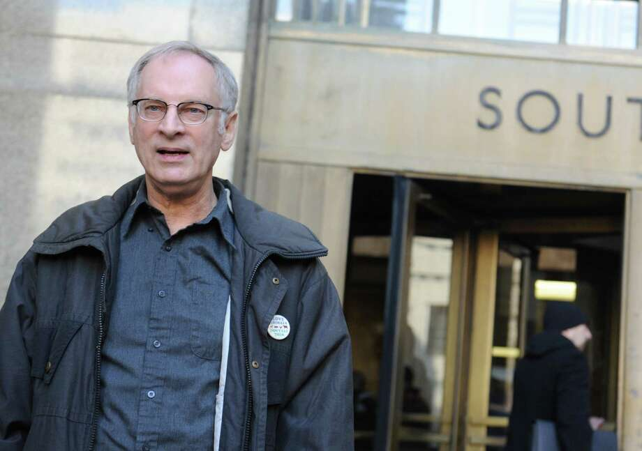 Bernie Goetz walks out after appearing in Manhattan criminal court, Wednesday, Dec. 18, 2013, in New York. Goetz, the vigilante who shot four panhandling youths on a New York City subway in 1984, is fighting low-level drug charges against him. He was arrested in November on misdemeanor drug charges. Police say he was nabbed in a sting selling $30 worth of pot to an undercover officer. Photo: Louis Lanzano, AP / FR77522 AP