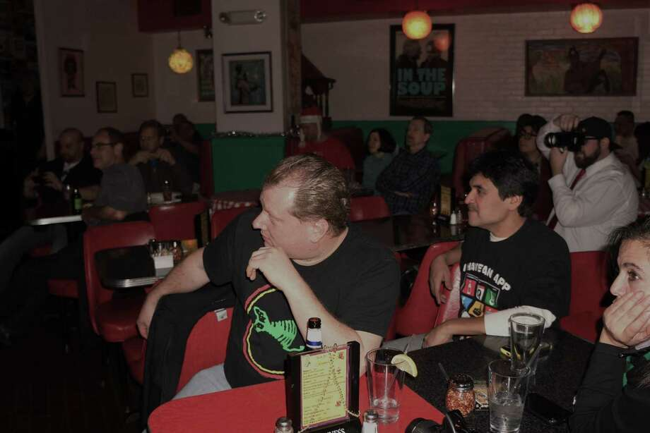"""Were you SEEN at, influential reggae-punk pioneer, Dr. Madd Vibe's(lead singer/sax of Fishbone) solo performance Saturday night in Bridgeport at Two Boots? Rebel Matic, a hardcore rock outfit from New York, and Prop Anon(Propaganda Anonymous), a Irish rapper from the Bronx, were the opening acts.  Angelo Moore(aka Dr. Madd Vibe) has said that until Norwood Fisher gets everything together with Fishbone he has no choice but to pursue his solo career as he is playing all the instruments including the Theremin, the drums and all the horn parts on his new album """"Sacrifice"""" and the """"Angelo Show"""".  Moore currently has four or five albums of new material that he is supporting along with a book and documentary film called Everyday Sunshine. The documentary about the origins of the band Fishbone is narrated by Laurence Fishburn and was featured in Bridgeport and followed up by live performances at the Vibes and headlining the FTC this year . 12/21/2013 Photo: Todd Tracy / Hearst CT Media"""