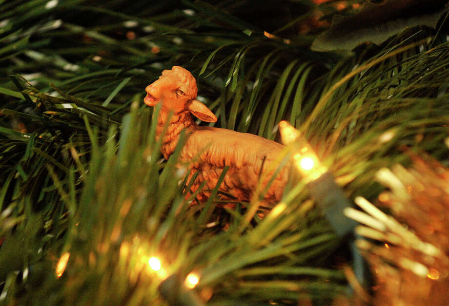 A figurine of a lamb is displayed in a Christmas nativity in Diego Musilli's home in Stamford, Conn., on Sunday, Dec. 22, 2013. This is Diego's 35th consecutive year he has created the model for his family. Photo: Jason Rearick / Stamford Advocate