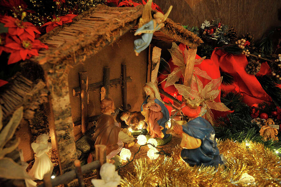 A Christmas nativity is displayed in Diego Musilli's home in Stamford, Conn., on Sunday, Dec. 22, 2013. This is Diego's 35th consecutive year he has created the model for his family. Photo: Jason Rearick / Stamford Advocate